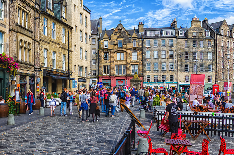 Edinburgh is full of winding, cobbled streets with plenty of shops so you can enjoy some retail therapy.