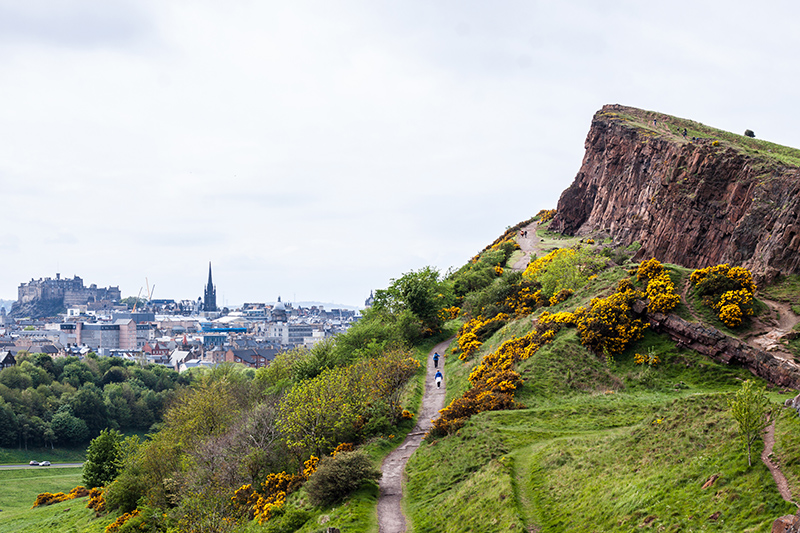 To take a break from the city, go for a hike to Arthur's Seat and appreciate the incredible vistas across Edinburgh.