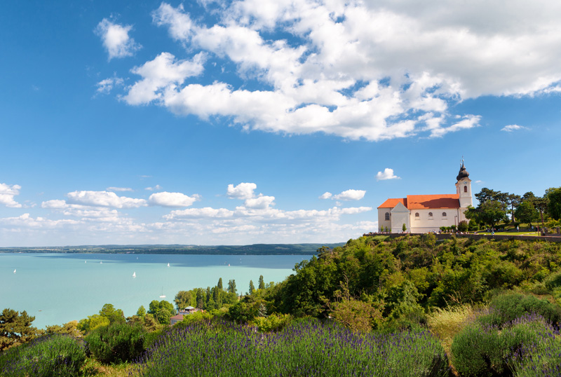 Tihany Abbey - the Benedictine monastery - was established in 1055 and is still in use today. The Abbey's founder, King Andrew, was buried here in 1060 and his tomb remains buried in the crypt.