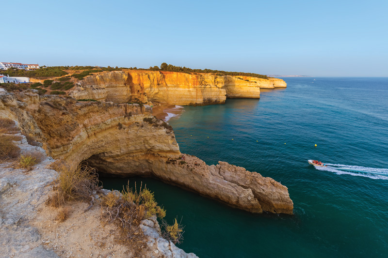 The Algarve coastline is known as one of the best in the world and with good reason. The dramatic cliffs framing miles and miles of golden sands, makes this a mecca for holidaymakers from all over the world.
