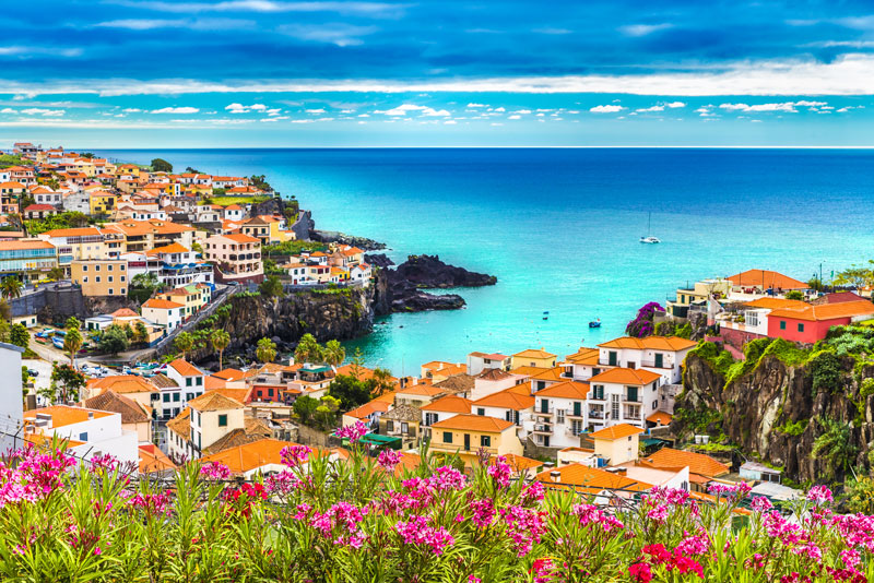 A visit to Câmara de Lobos Bay for the fiery sunset will be the perfect end to a perfect day in Madeira. With the pretty orange roof tiles contrasting colourfully against the azure blue of the Atlantic Ocean, it is quite a sight.