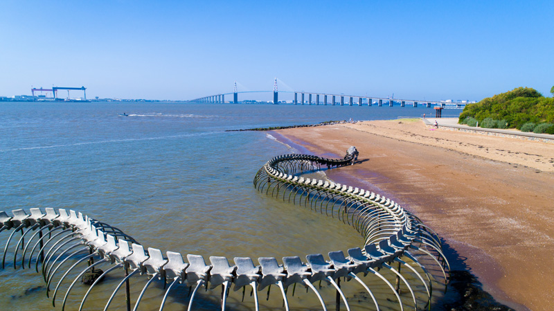 Saint-Nazaire is a beautiful seaside town and for beach lovers, there are 20 sandy shores to enjoy. Look out for the spectacular Serpent d'océan structure - it's quite a sight!