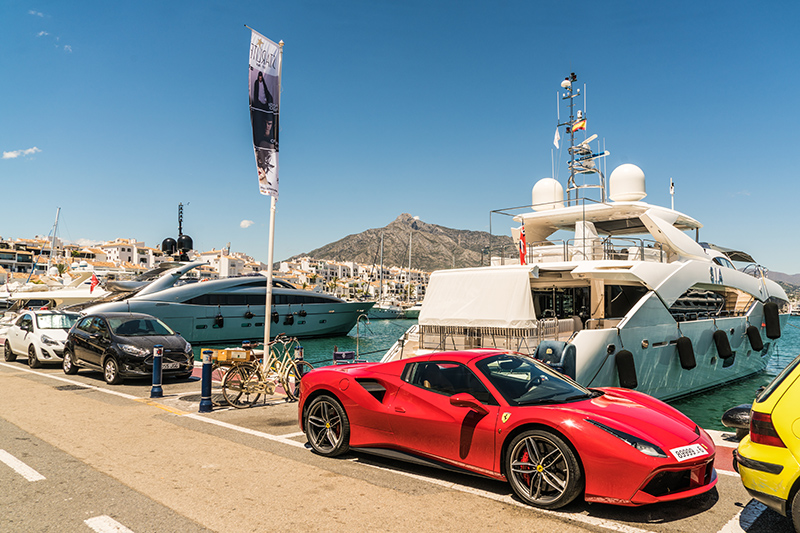 Puerto Banús Marina is the place to be and be seen. Wander around spotting some of the world's most expensive supercars parked around town and stroll around the marina to take a look at the boats.