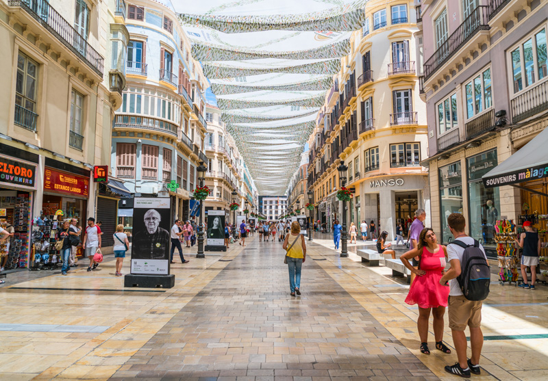 Not only a shopper's mecca, but Calle Marqués de Larios also holds many of Málaga's top events including Málaga Fashion Week.