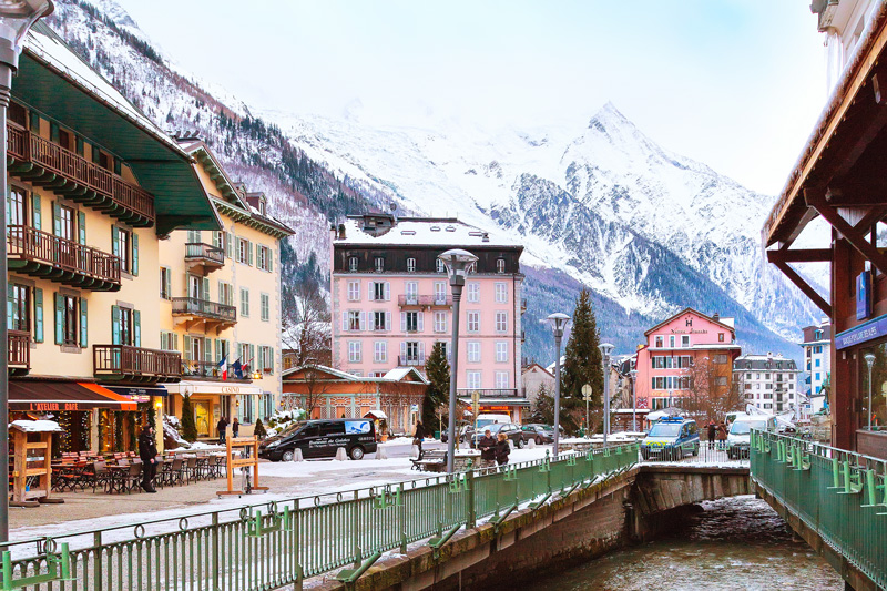 Chamonix-Mont Blanc is one of the most popular of the Alpine villages.
