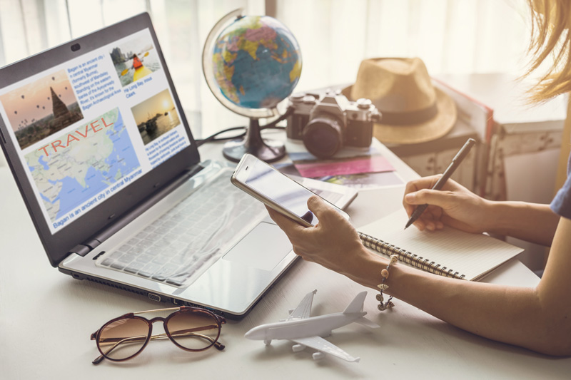 Sign up to a range of travel sites and newsletters to find out about the latest travel trends and receive exclusive previews to sales.