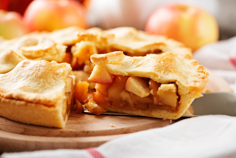 Apple pie is a very British dish dating back to 1381.