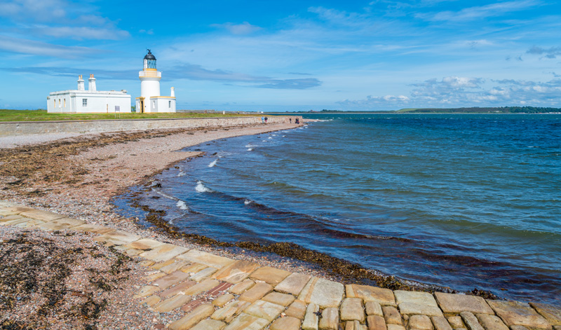 The Chanonry Lighthouse is a quaint spot to visit in Fortrose and the best place in Scotland to see dolphins close up. The Moray Firth is home to over 130 of the beautiful animals who frequently play near the shore, so don't forget your camera!
