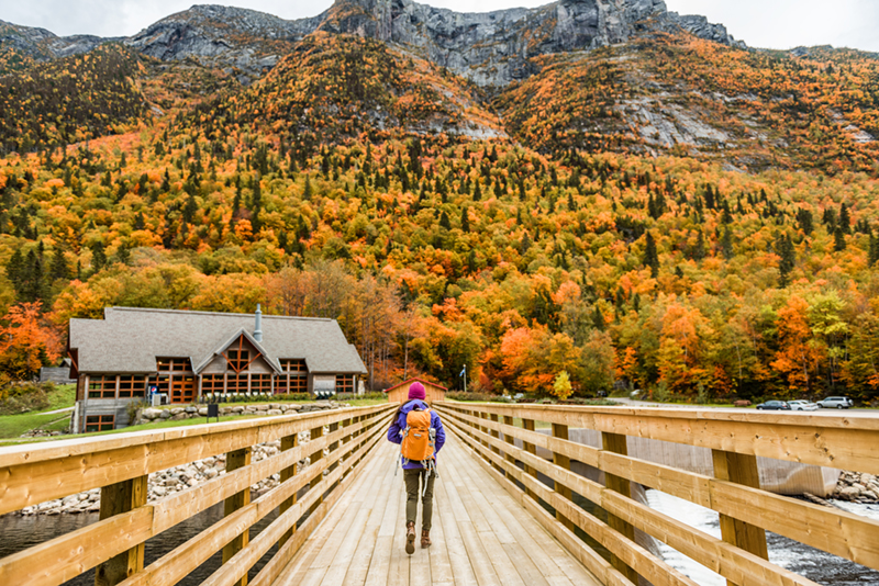 Québec is a wonderfully diverse holiday location. In contrast to the city's old-time grandeur, the area's national parks take you out into wilder terrain and there can be no better time to pull on your hiking boots to explore this naturual beauty than the autumn.