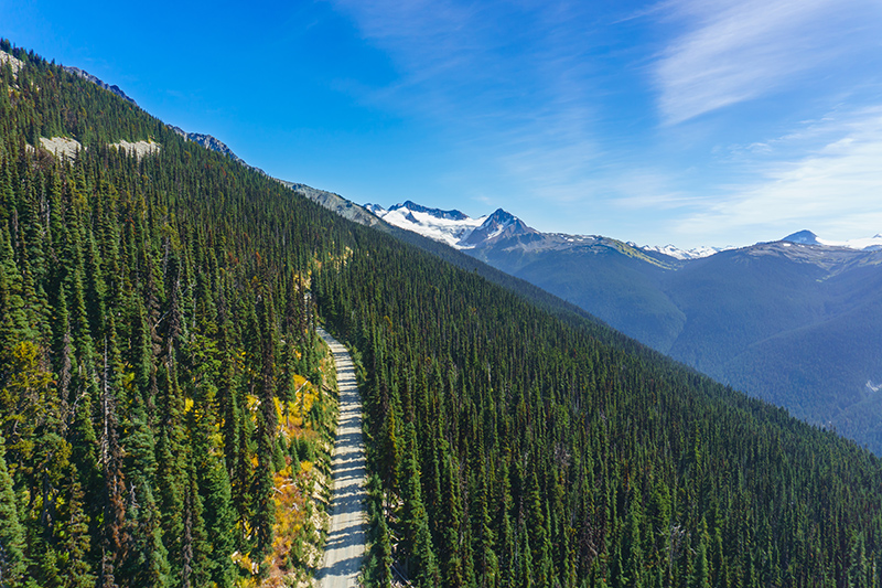 Canada is the place to be if you love the outdoors. Take in the stunning views of the Blackcomb Mountain, with its beautiful, fragrant pine trees and snow-topped mountains as a backdrop.