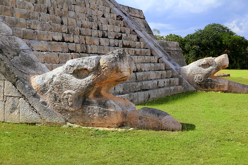 The El Castillo pyramid really is worth a visit and has been given the coveted title of one of the New Wonders Of The World,