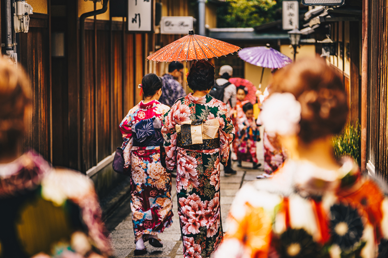 Old Kyoto has lots of colour in its own right, making a fascinating place to visit, anytime of the year!