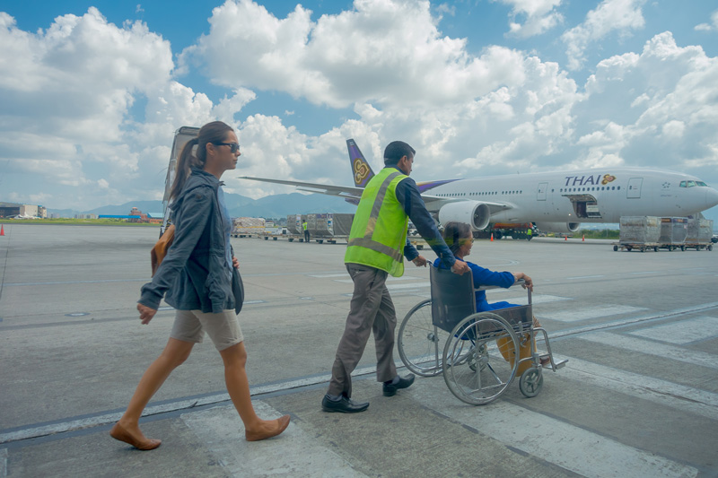 Assisted boarding can make such a difference to the ease and peace of mind with which you travel. Assistance is available for every type of disability, but be sure to book at least 48 hours in advance for most airlines, or when you book your flights if possible.