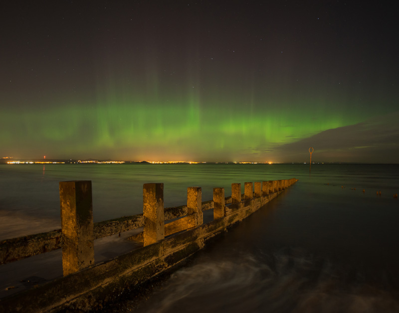 If you really want to see the Northern Lights, make sure you take a camera and keep nice and warm, as it can be cold throughout the night in locations such as Portobello Beach in Scotland, pictured here!