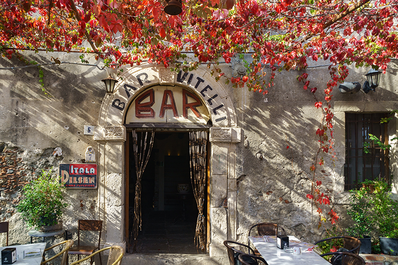 The Godfather is a 1972 crime film, with key scenes being filmed in Bar Vitelli - a café in Sicily - where memorabilia and photos from the film are on display.