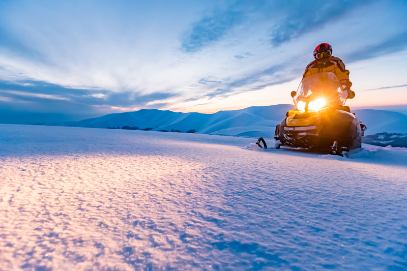 Skidoo rides are an increasngly popular winter holiday option.