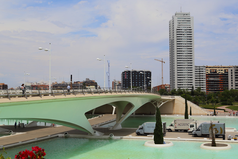 The City of Arts and Sciences is very futuristic and is spectacular in this ancient city of Valencia.