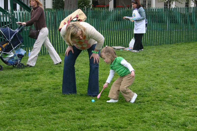 Egg rolling is an Easter tradition that has stood the test of time. Egg rolling at the White House is one of the biggest competitions for it!