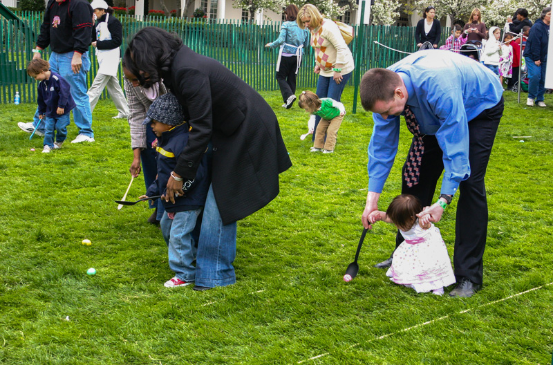 The President of the United States usually hosts the biggest Easter egg rolling competition of the holiday.