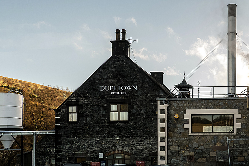 The Dufftown Distillery in Banffshire, Scotland.