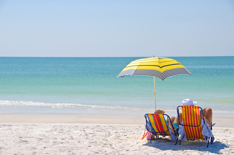 The beaches at Anna Maria Island are rarely overcrowded, so it gives everyone plenty of room to get some well-deserved relaxing in.