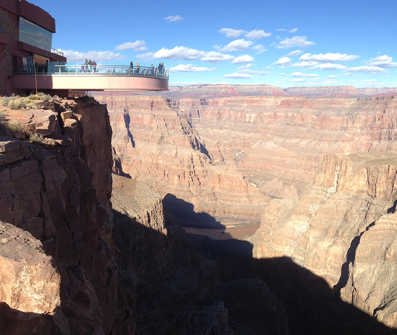The Skywalk is a pretty incredible structure, jutting out 21-metres over the Grand Canyon.