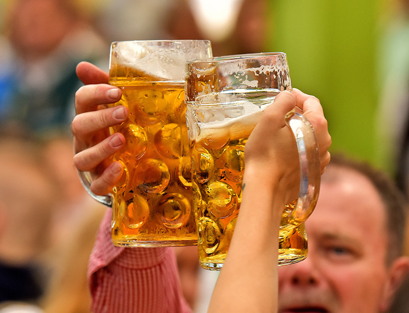 Throughout Oktoberfest, nearly 7 million litres of beer is served in 1-litre glasses to festival-goers. In 2018, organisers have confirmed a beer will set you back between €9.70  and €10.10, so make sure you come prepared!
