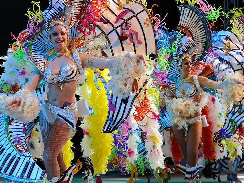 If you're looking for fun, fancy dress and feathers, Carnival of Santa Cruz de Tenerife is the place to be.