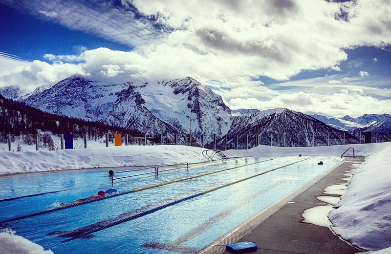 Thermal pools and saunas are special features of winter resorts - and the mountains are the perfect place to enjoy them.