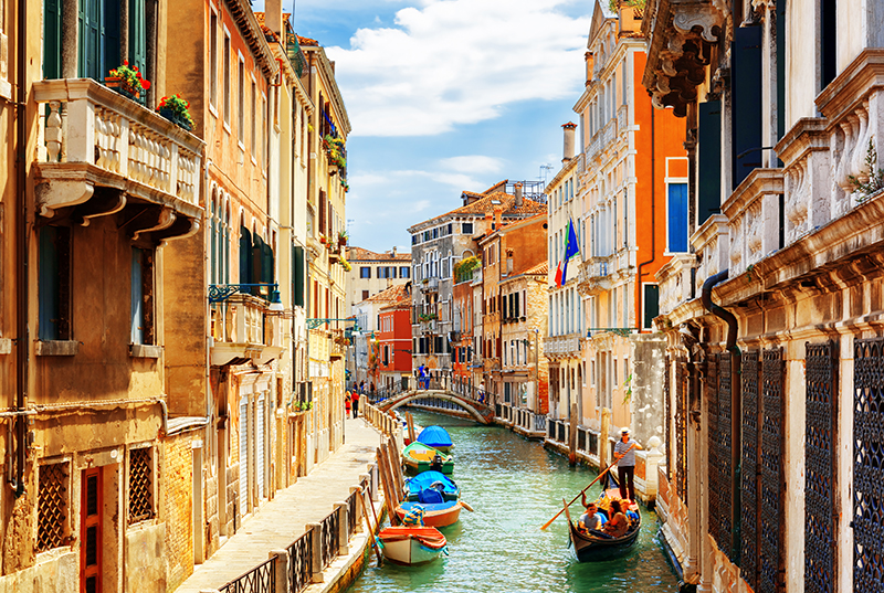 One of the top travel bucket list ideas is to ride a gondola in Venice, so make sure you tick it off during your stay.
